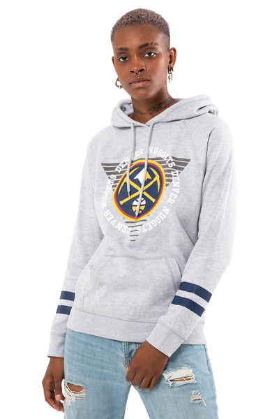 NBA Denver Nuggets Women's Hoodie Varsity Stripe|Denver Nuggets