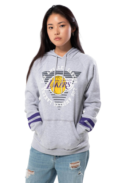 NBA Los Angeles Lakers Women's Hoodie Varsity Stripe|Los Angeles Lakers