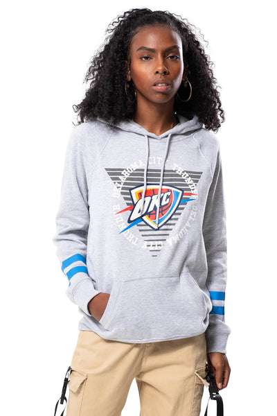 NBA Oklahoma City Thunder Women's Hoodie Varsity Stripe|Oklahoma City Thunder