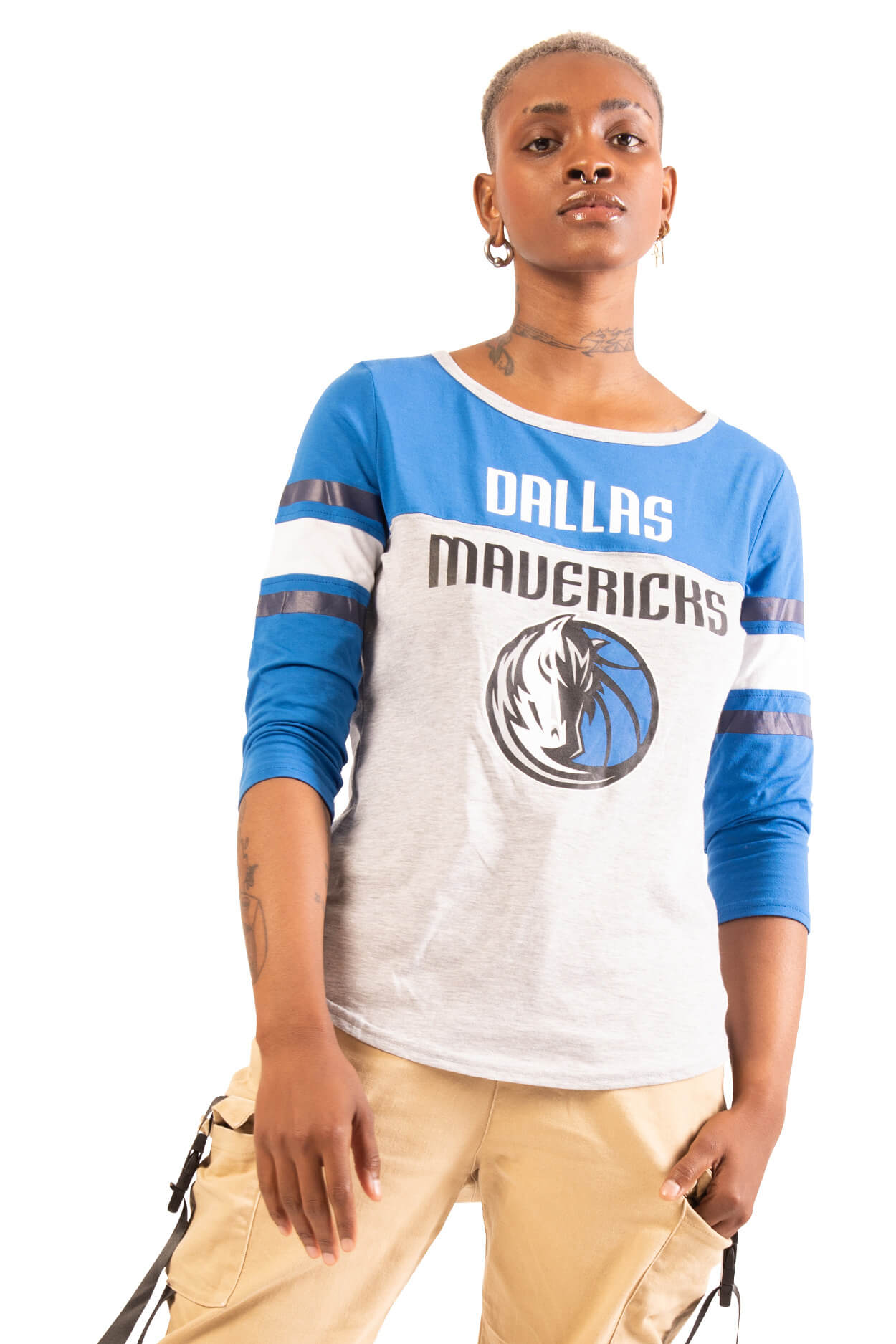 NBA Dallas Mavericks Women's Baseball Tee|Dallas Mavericks