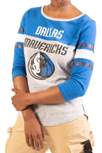 Load image into Gallery viewer, NBA Dallas Mavericks Women's Baseball Tee|Dallas Mavericks