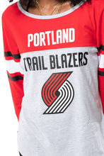 Load image into Gallery viewer, NBA Portland Trail Blazers Women's Baseball Tee|Portland Trail Blazers