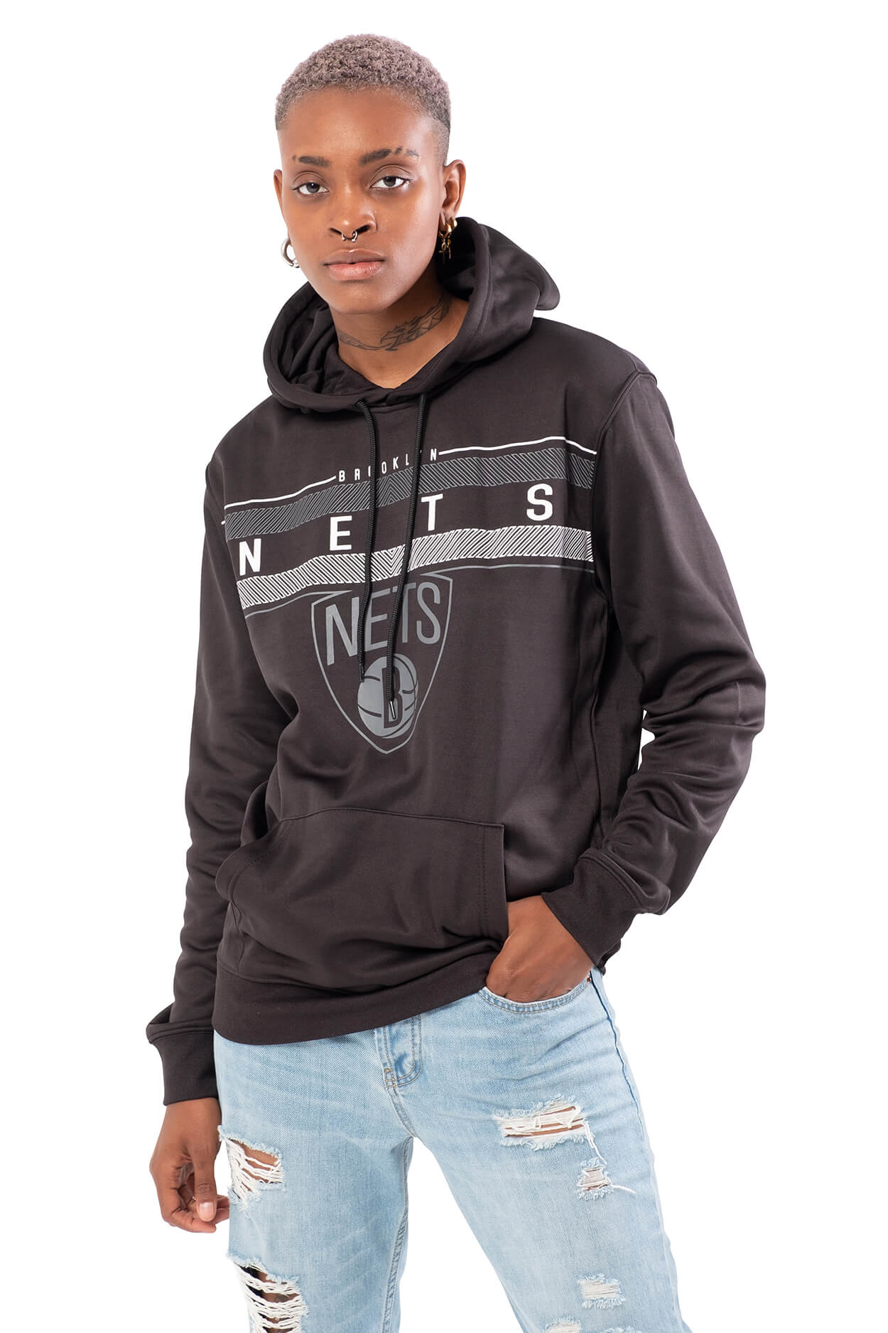 NBA Brooklyn Nets Men's Fleece Hoodie Midtown|Brooklyn Nets
