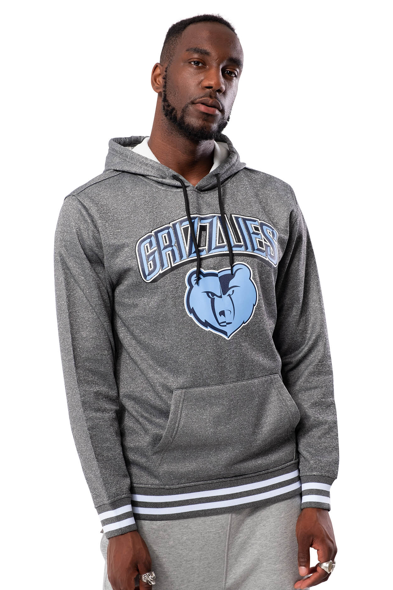 NBA Memphis Grizzlies Men's Fleece Hoodie Rib Stripe|Memphis Grizzlies