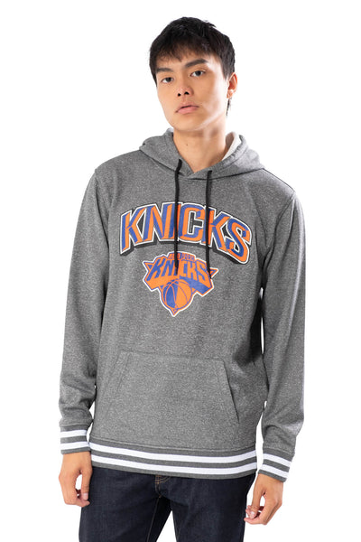 NBA New York Knicks Men's Fleece Hoodie Rib Stripe|New York Knicks