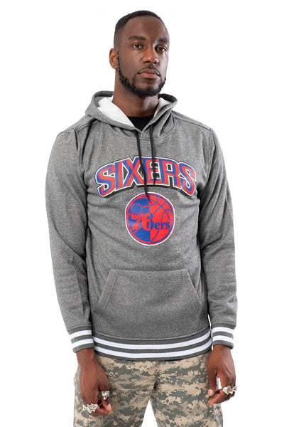 NBA Philadelphia 76ers Men's Fleece Hoodie Rib Stripe|Philadelphia 76ers