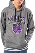 Load image into Gallery viewer, NBA Sacramento Kings Men's Fleece Hoodie Rib Stripe|Sacramento Kings