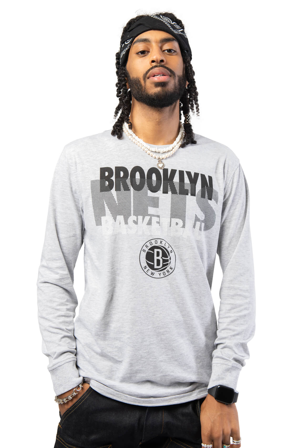 NBA Brooklyn Nets Men's Long Sleeve Pullover|Brooklyn Nets
