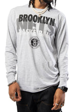 Load image into Gallery viewer, NBA Brooklyn Nets Men's Long Sleeve Pullover|Brooklyn Nets