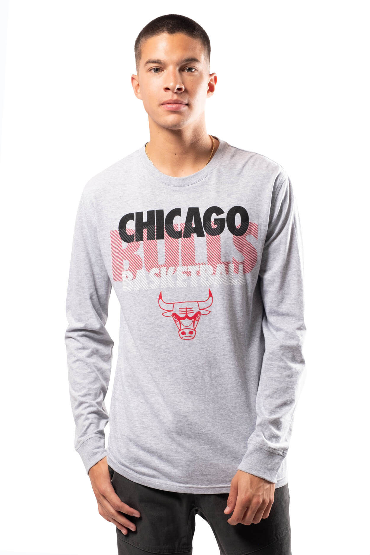NBA Chicago Bulls Men's Long Sleeve Pullover|Chicago Bulls