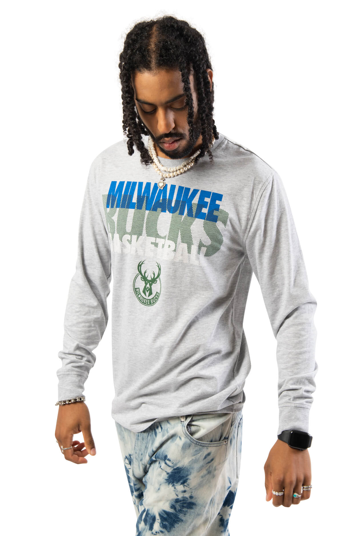 NBA Milwaukee Bucks Men's Long Sleeve Pullover|Milwaukee Bucks