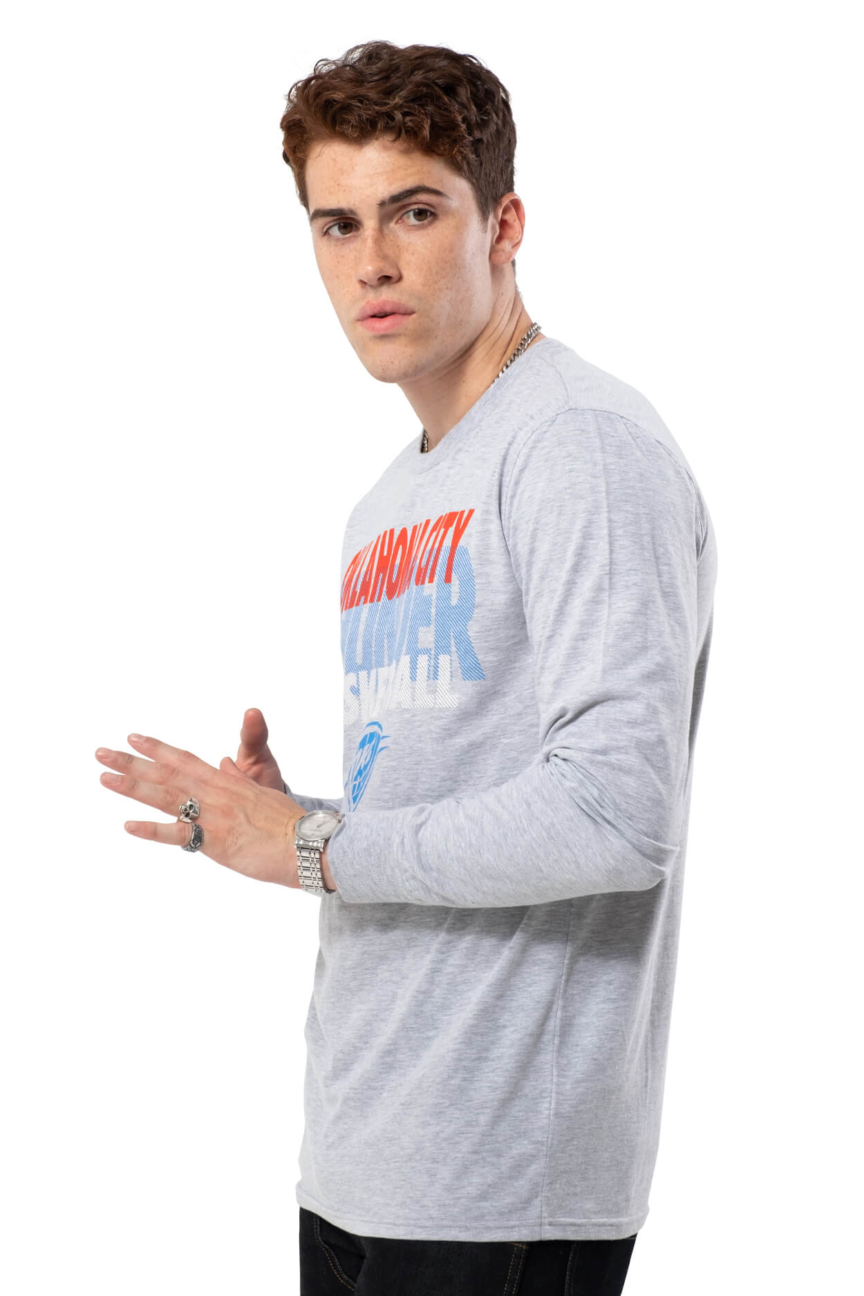 NBA Oklahoma City Thunder Men's Long Sleeve Pullover|Oklahoma City Thunder