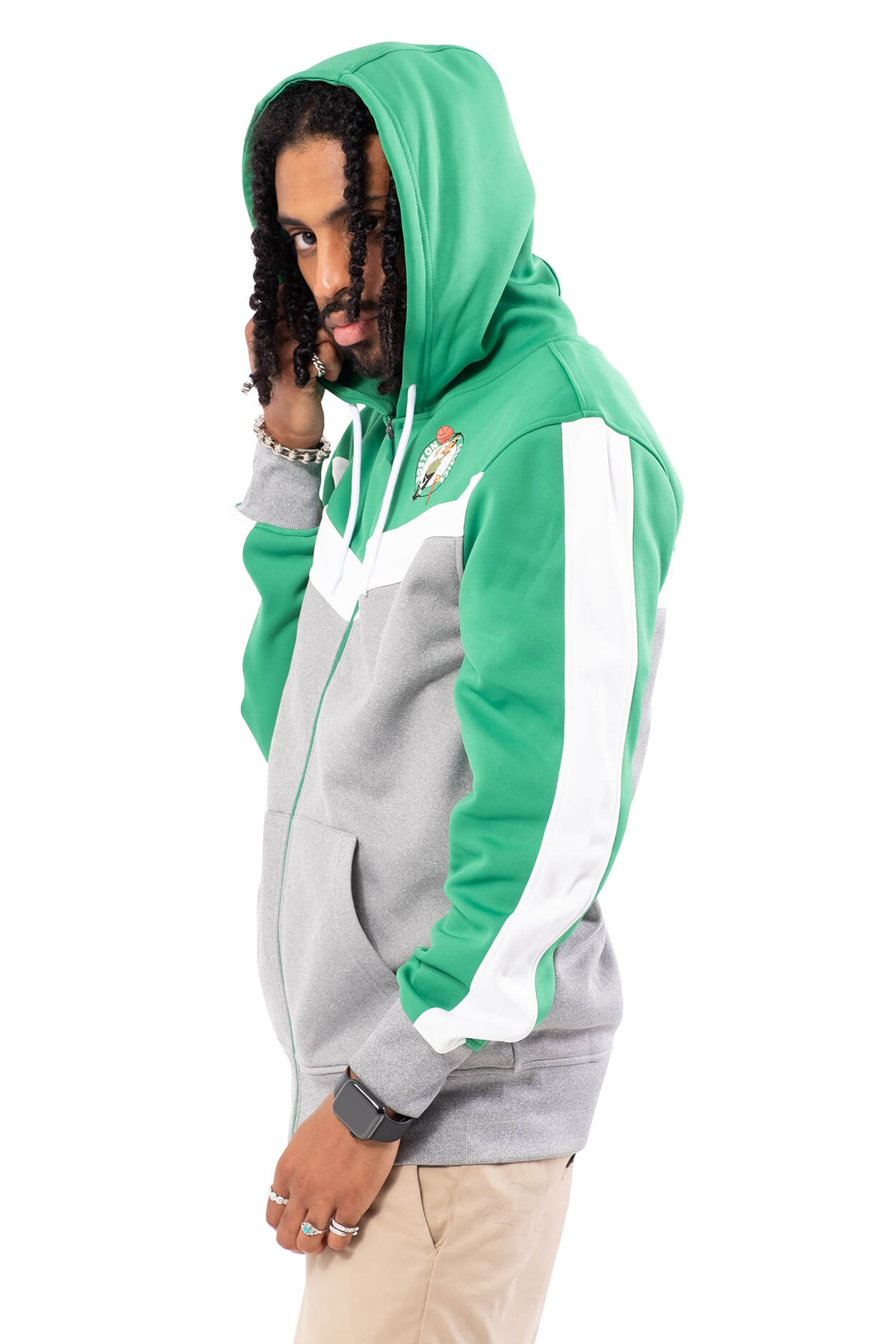 NBA Boston Celtics Men's Full Zip Hoodie|Boston Celtics