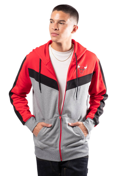NBA Chicago Bulls Men's Full Zip Hoodie|Chicago Bulls