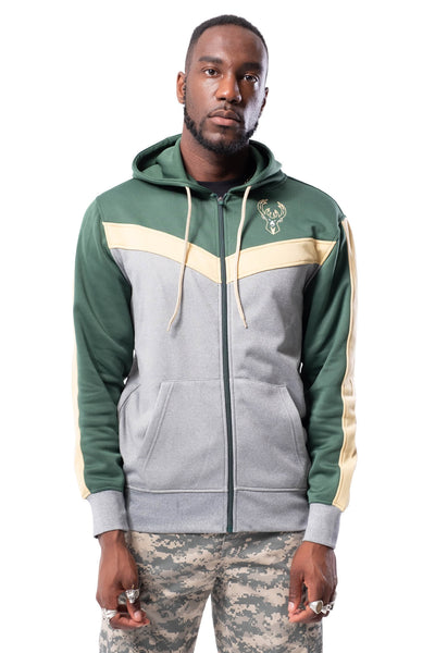 NBA Milwaukee Bucks Men's Full Zip Hoodie|Milwaukee Bucks