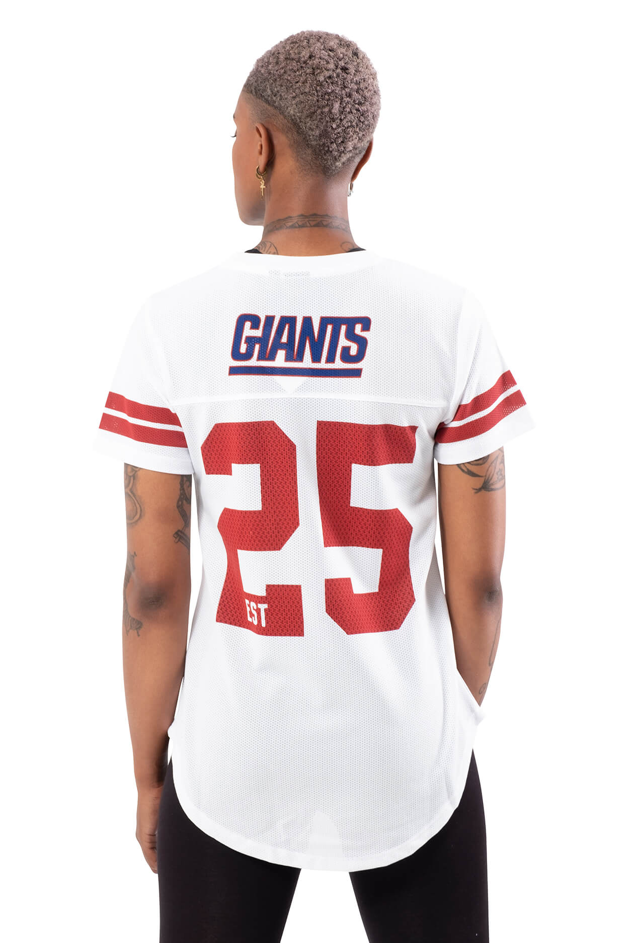 NFL New York Giants Women's Varsity Stripe Tee|New York Giants