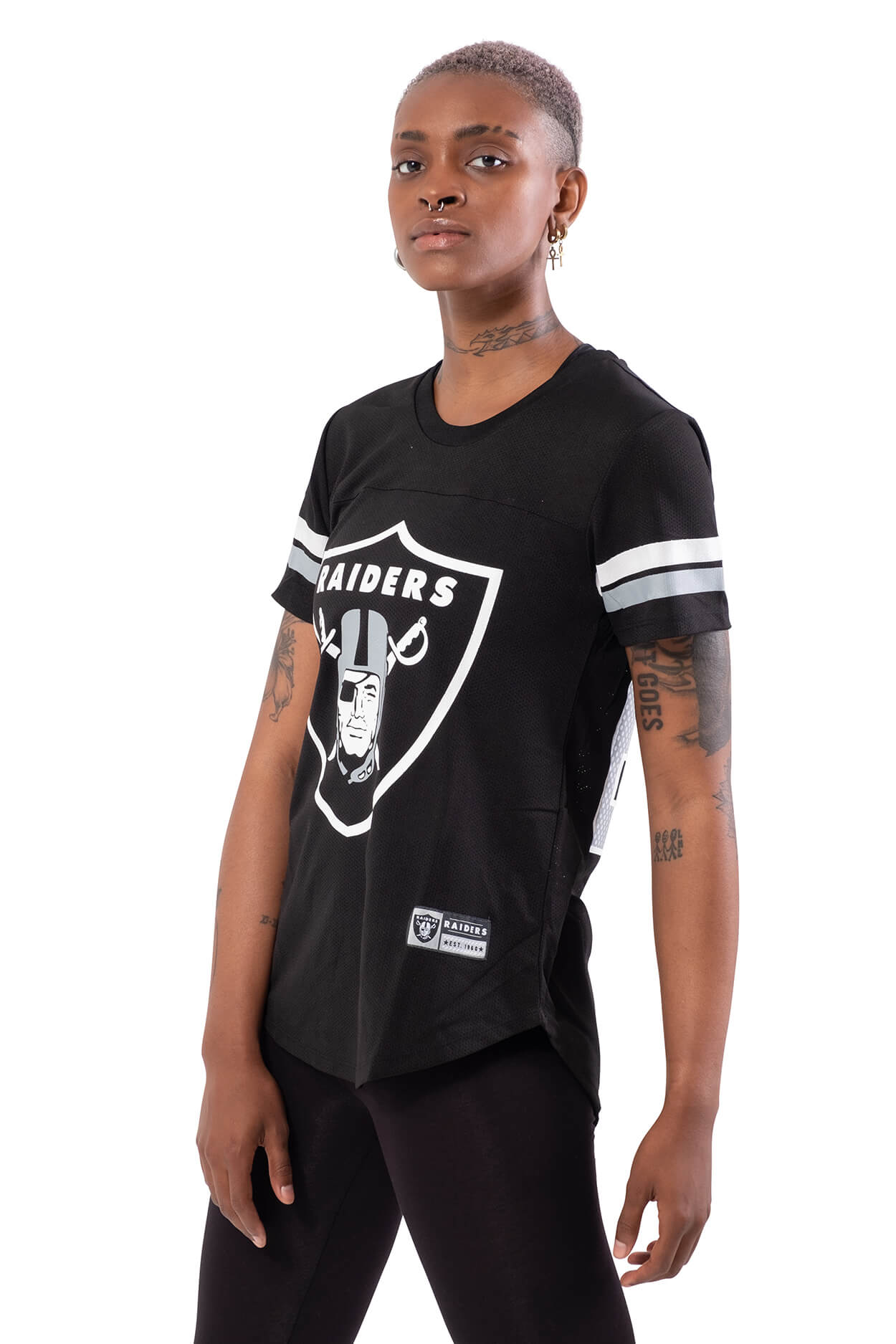NFL Oakland Raiders Women's Varsity Stripe Tee|Oakland Raiders