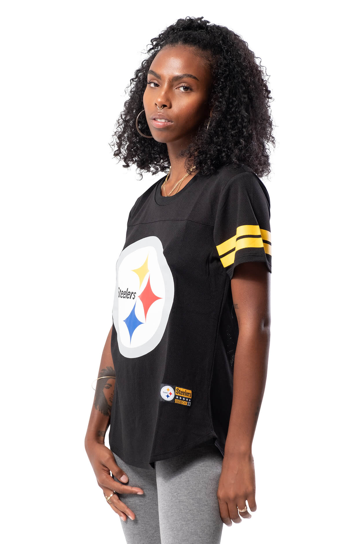 NFL Pittsburgh Steelers Women's Varsity Stripe Tee|Pittsburgh Steelers