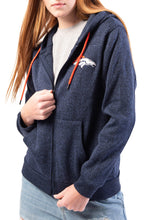 Load image into Gallery viewer, NFL Denver Broncos Women's Full Zip Hoodie|Denver Broncos