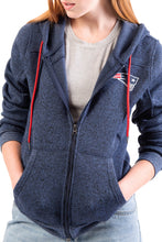 Load image into Gallery viewer, NFL New England Patriots Women's Full Zip Hoodie|New England Patriots