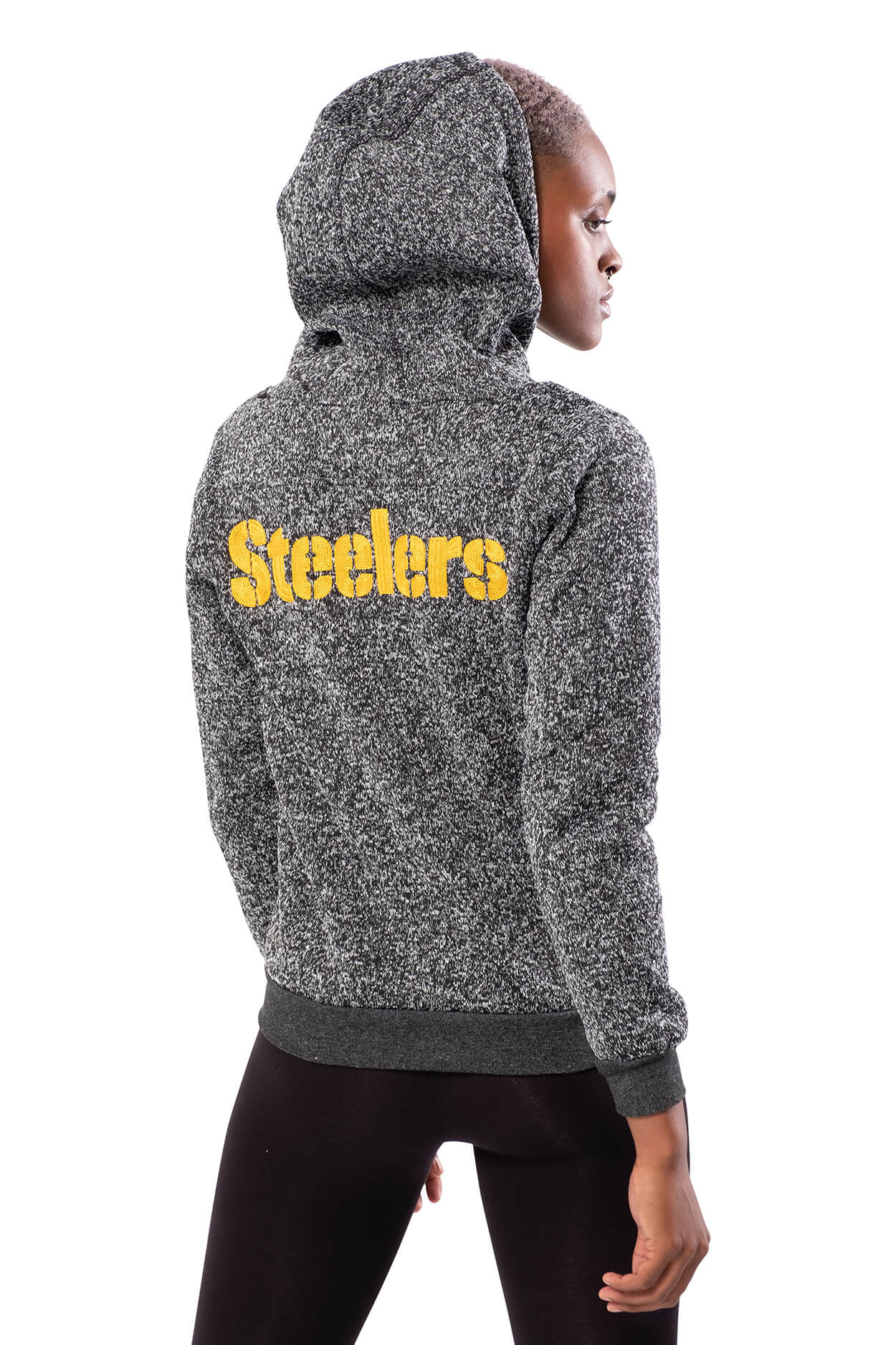 NFL Pittsburgh Steelers Women's Full Zip Hoodie|Pittsburgh Steelers