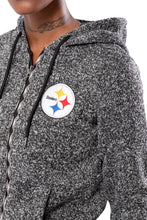 Load image into Gallery viewer, NFL Pittsburgh Steelers Women's Full Zip Hoodie|Pittsburgh Steelers