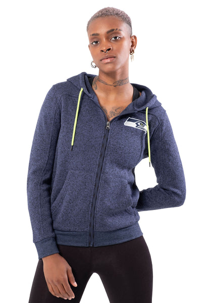 NFL Seattle Seahawks Women's Full Zip Hoodie|Seattle Seahawks