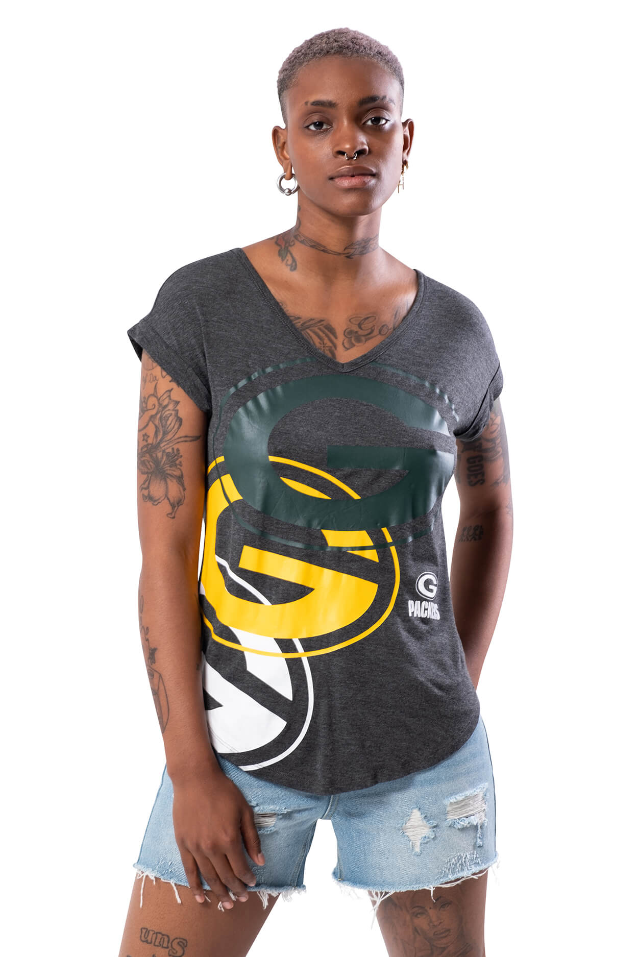 NFL Green Bay Packers Women's V-Neck Tee|Green Bay Packers