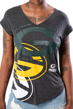 Load image into Gallery viewer, NFL Green Bay Packers Women's V-Neck Tee|Green Bay Packers