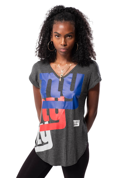 NFL New York Giants Women's V-Neck Tee|New York Giants