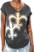 Load image into Gallery viewer, NFL New Orleans Saints Women's V-Neck Tee|New Orleans Saints
