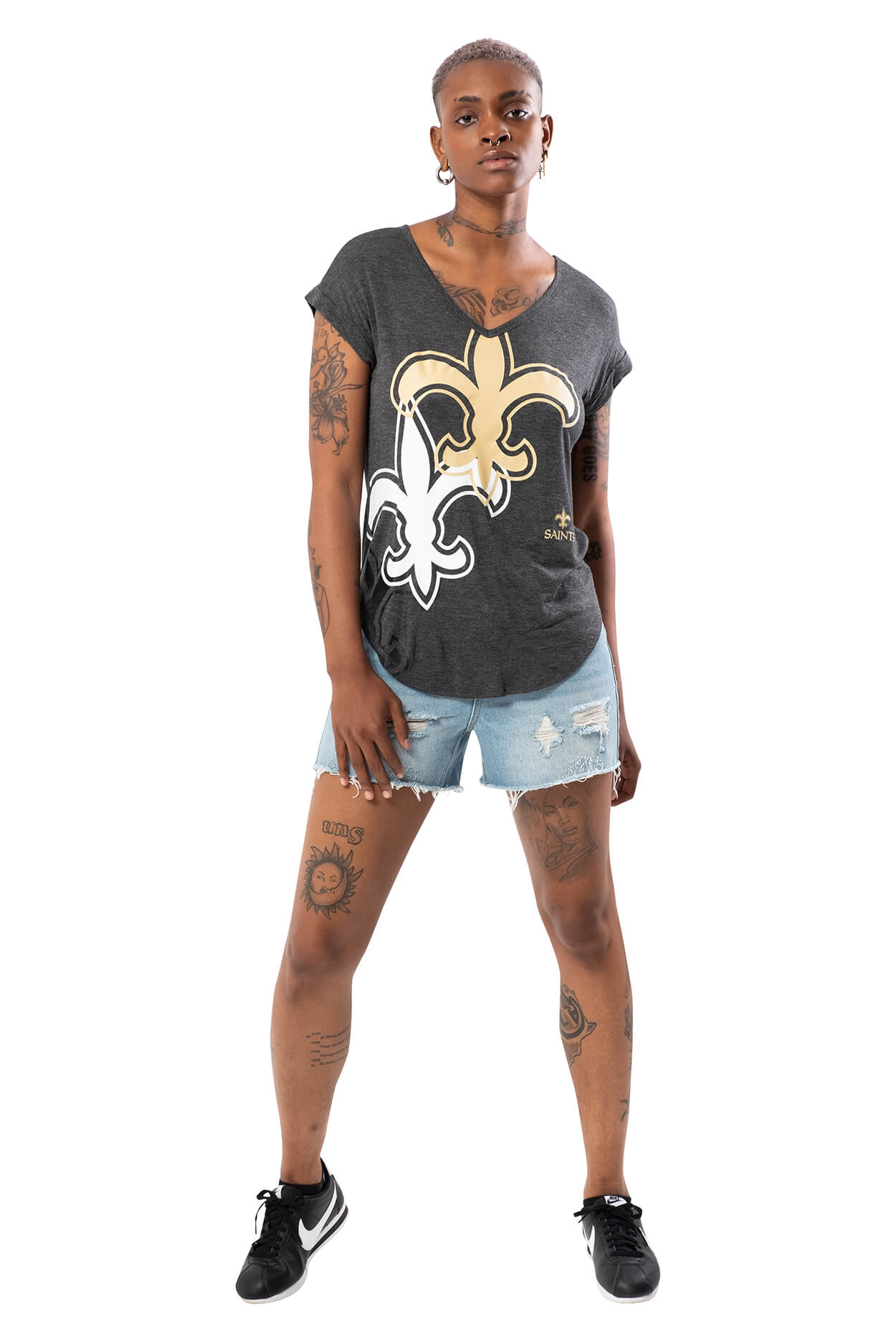 NFL New Orleans Saints Women's V-Neck Tee|New Orleans Saints