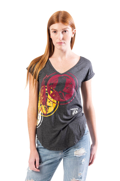 NFL Washington Redskins Women's V-Neck Tee|Washington Redskins