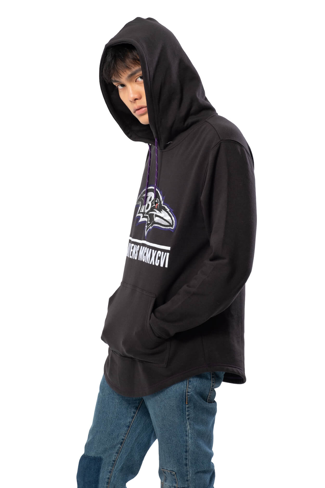 NFL Baltimore Ravens Men's Embroidered Hoodie|Baltimore Ravens