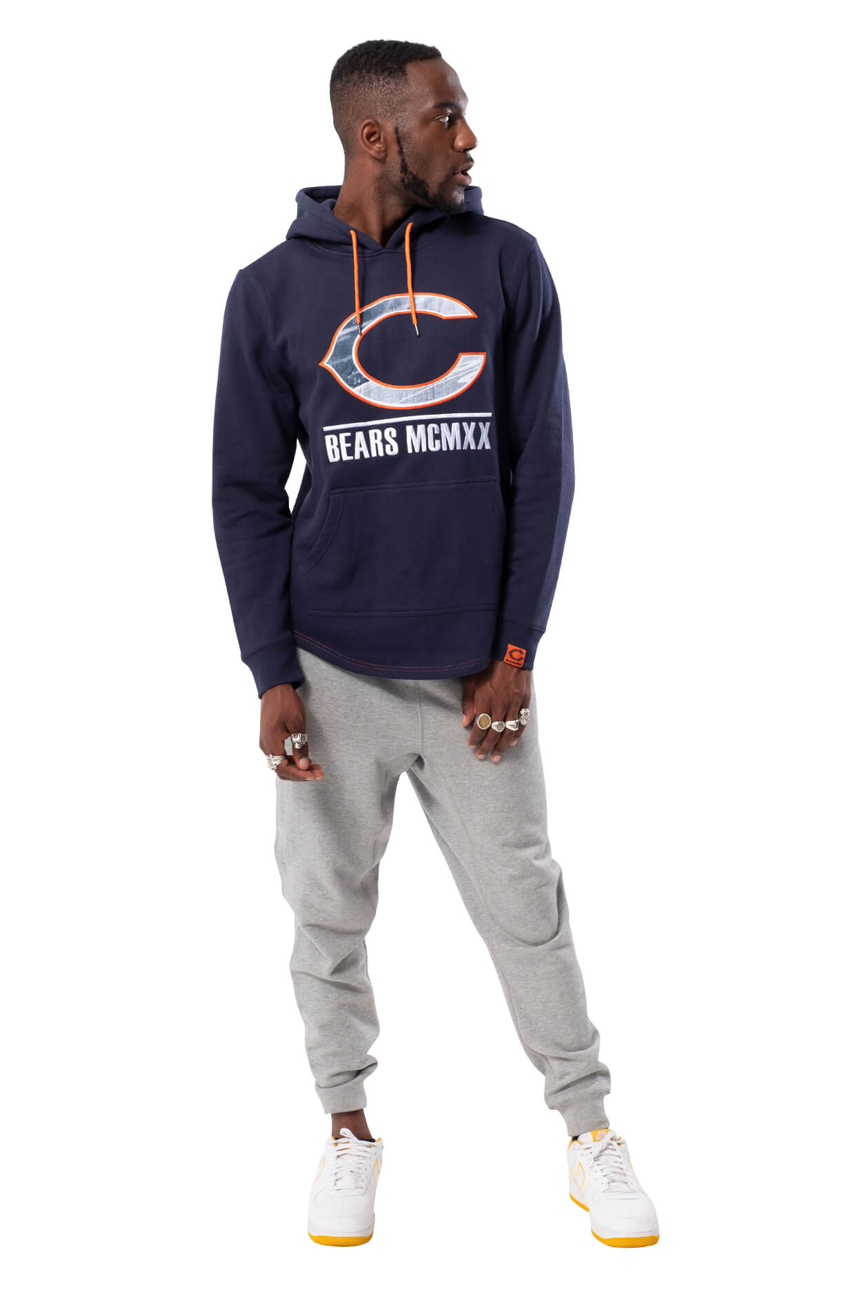 NFL Chicago Bears Men's Embroidered Hoodie|Chicago Bears