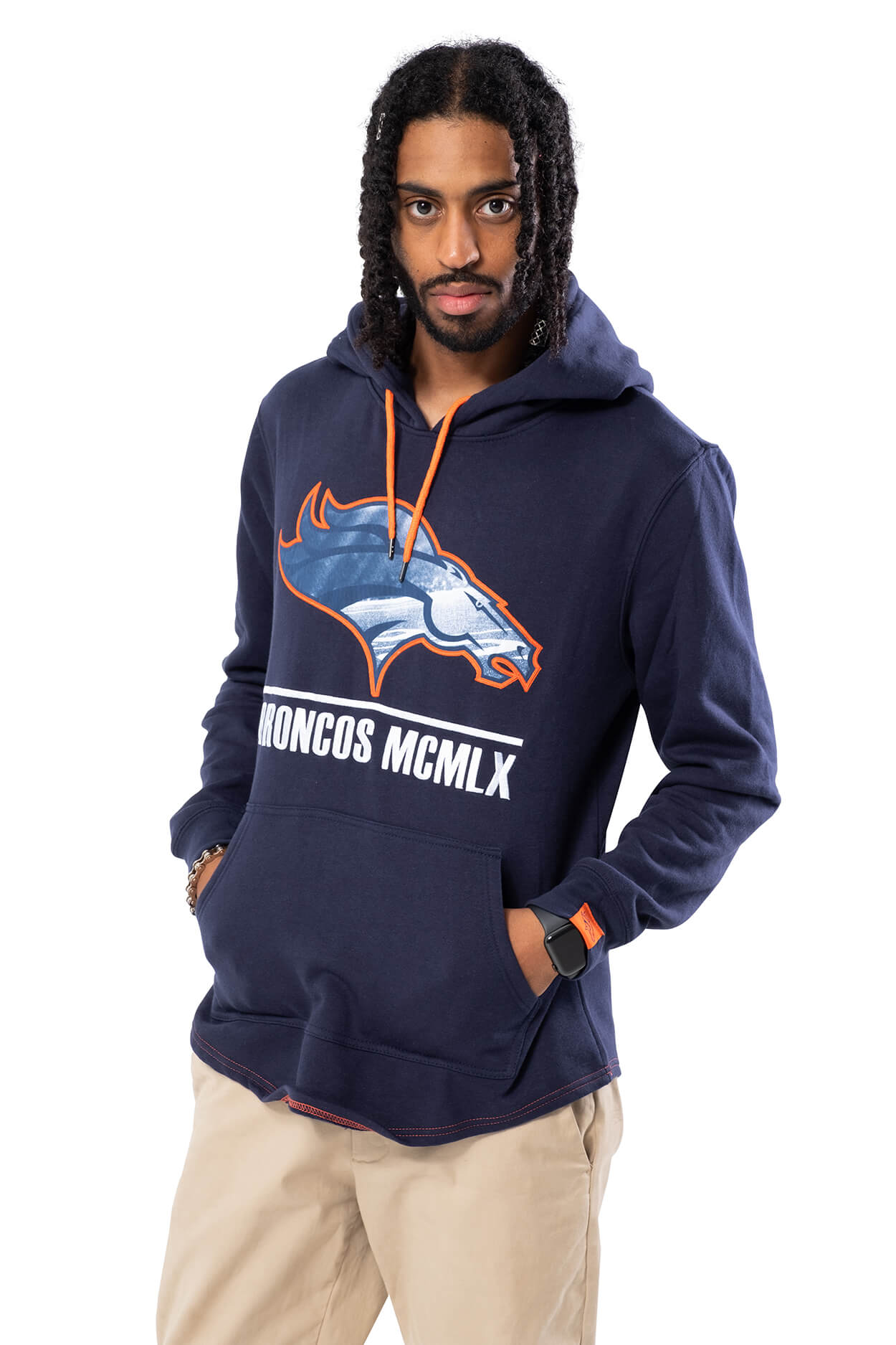 NFL Denver Broncos Men's Embroidered Hoodie|Denver Broncos