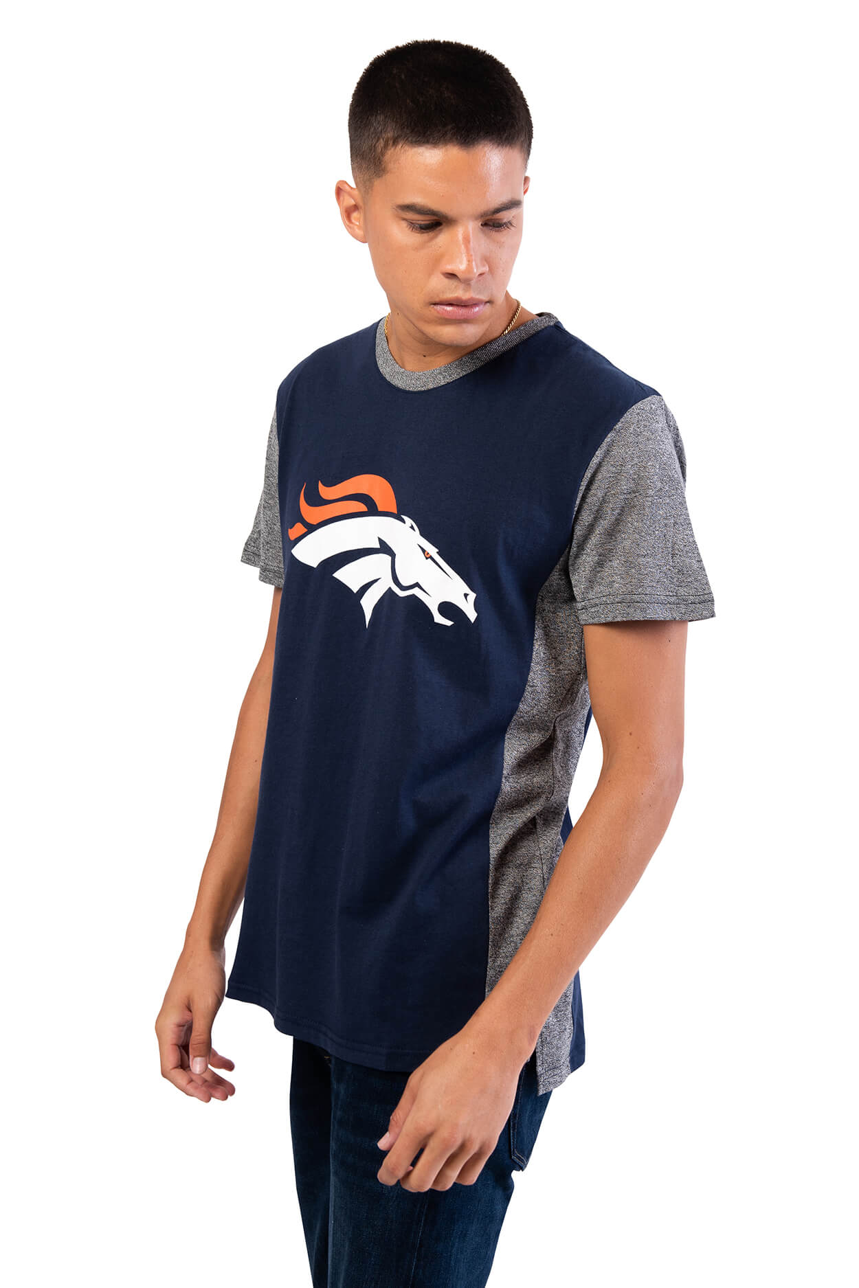 NFL Denver Broncos Men's Raglan Short Sleeve Tee|Denver Broncos
