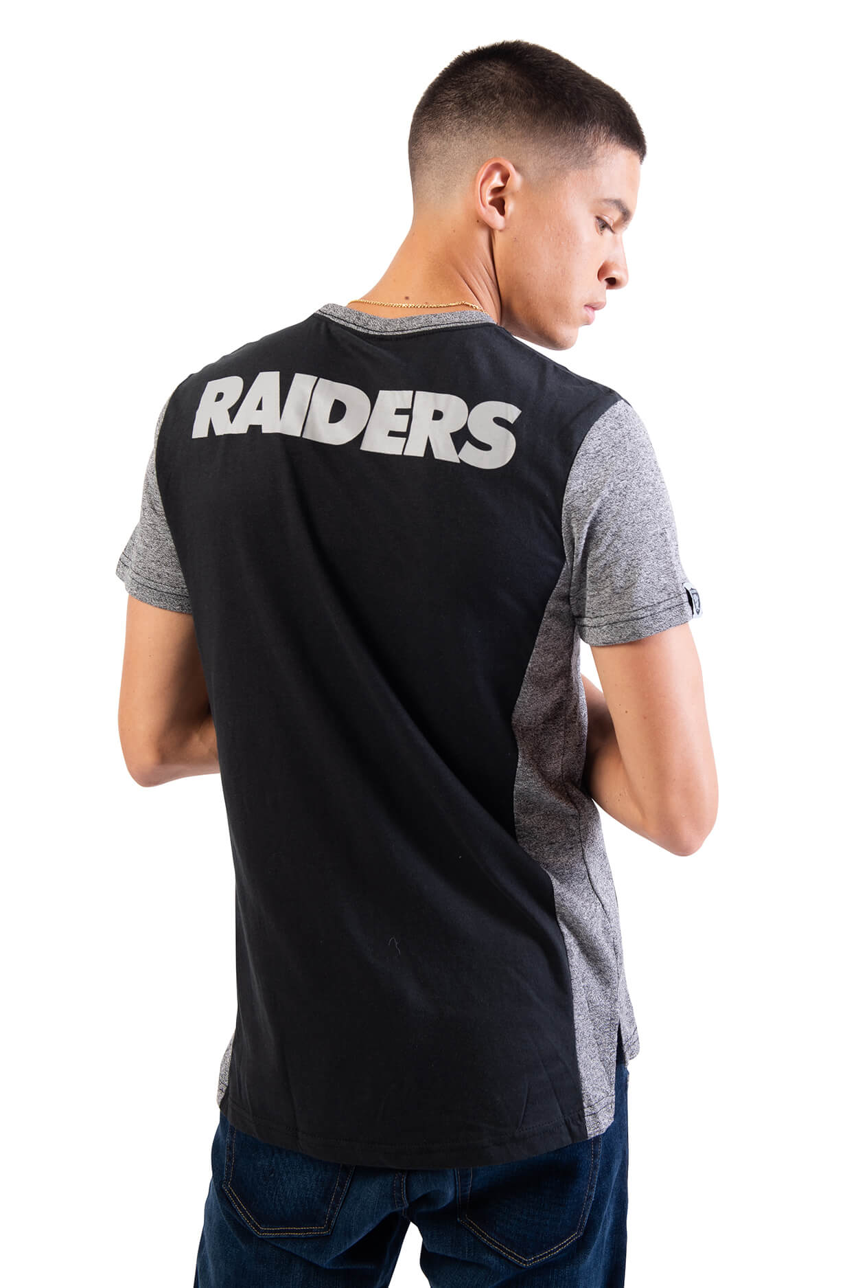 NFL Oakland Raiders Men's Raglan Short Sleeve Tee|Oakland Raiders
