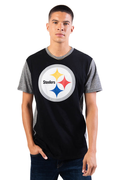 NFL Pittsburgh Steelers Men's Raglan Short Sleeve Tee|Pittsburgh Steelers