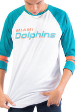 Load image into Gallery viewer, NFL Miami Dolphins Men's Baseball Tee|Miami Dolphins