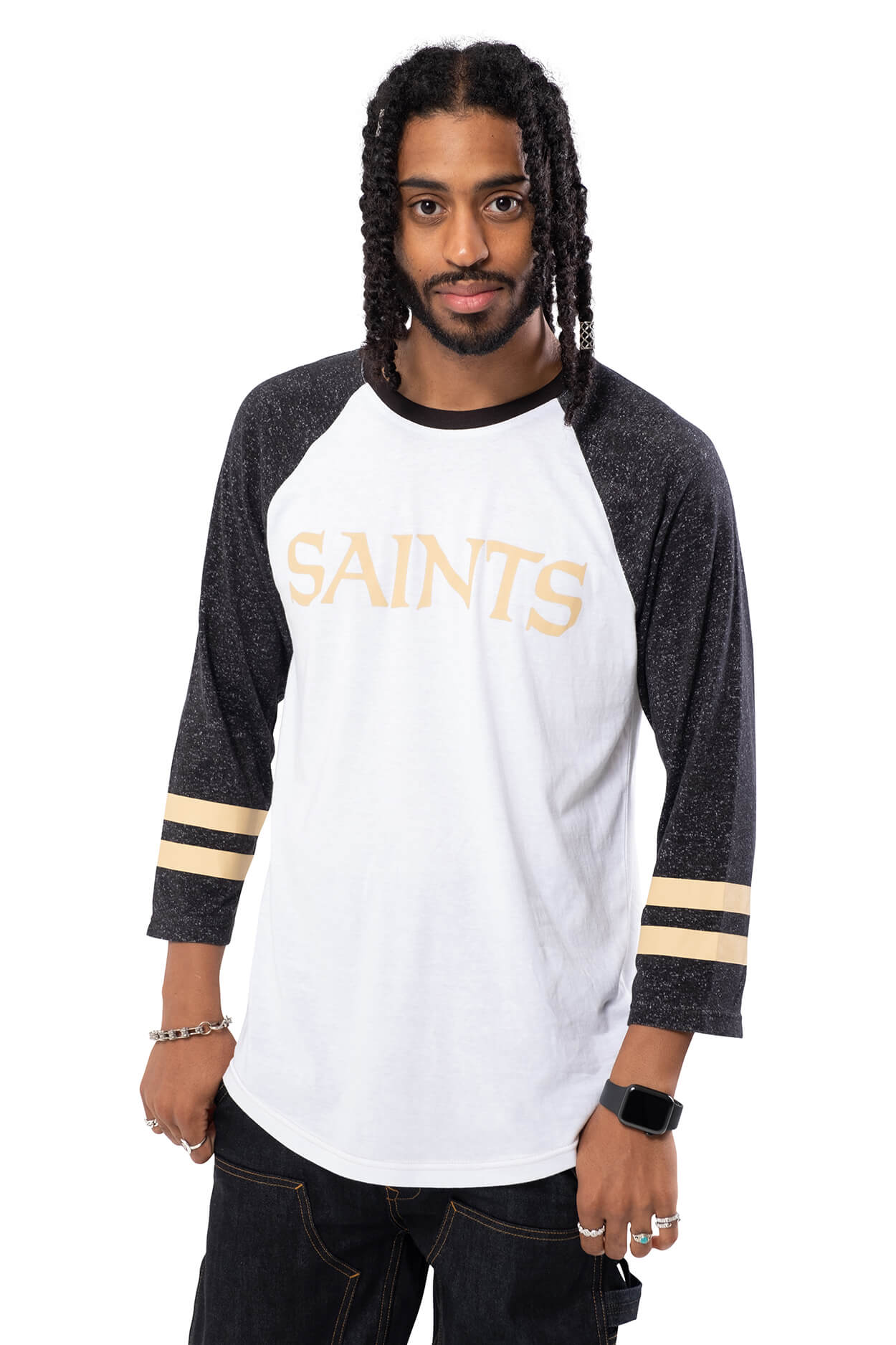 NFL New Orleans Saints Men's Baseball Tee|New Orleans Saints