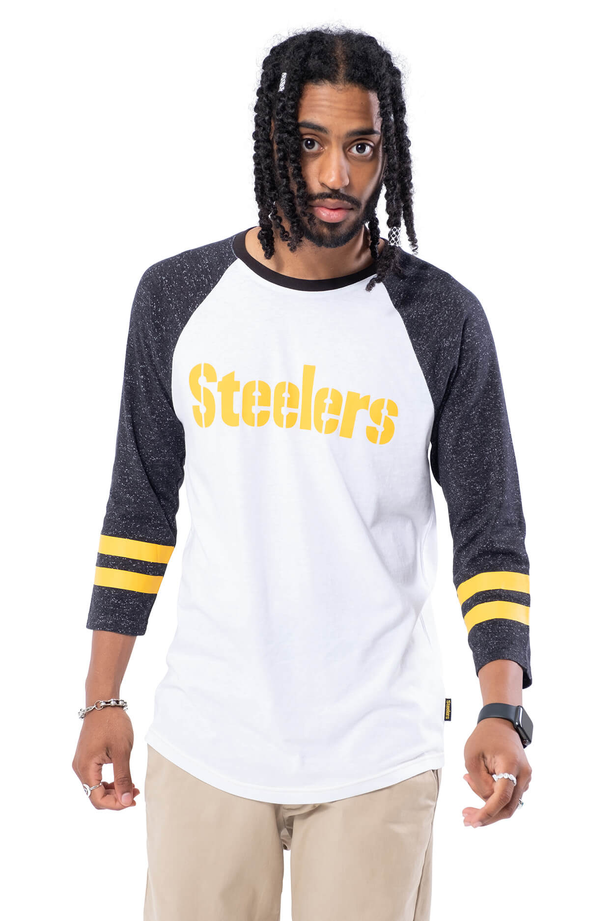 NFL Pittsburgh Steelers Men's Baseball Tee|Pittsburgh Steelers