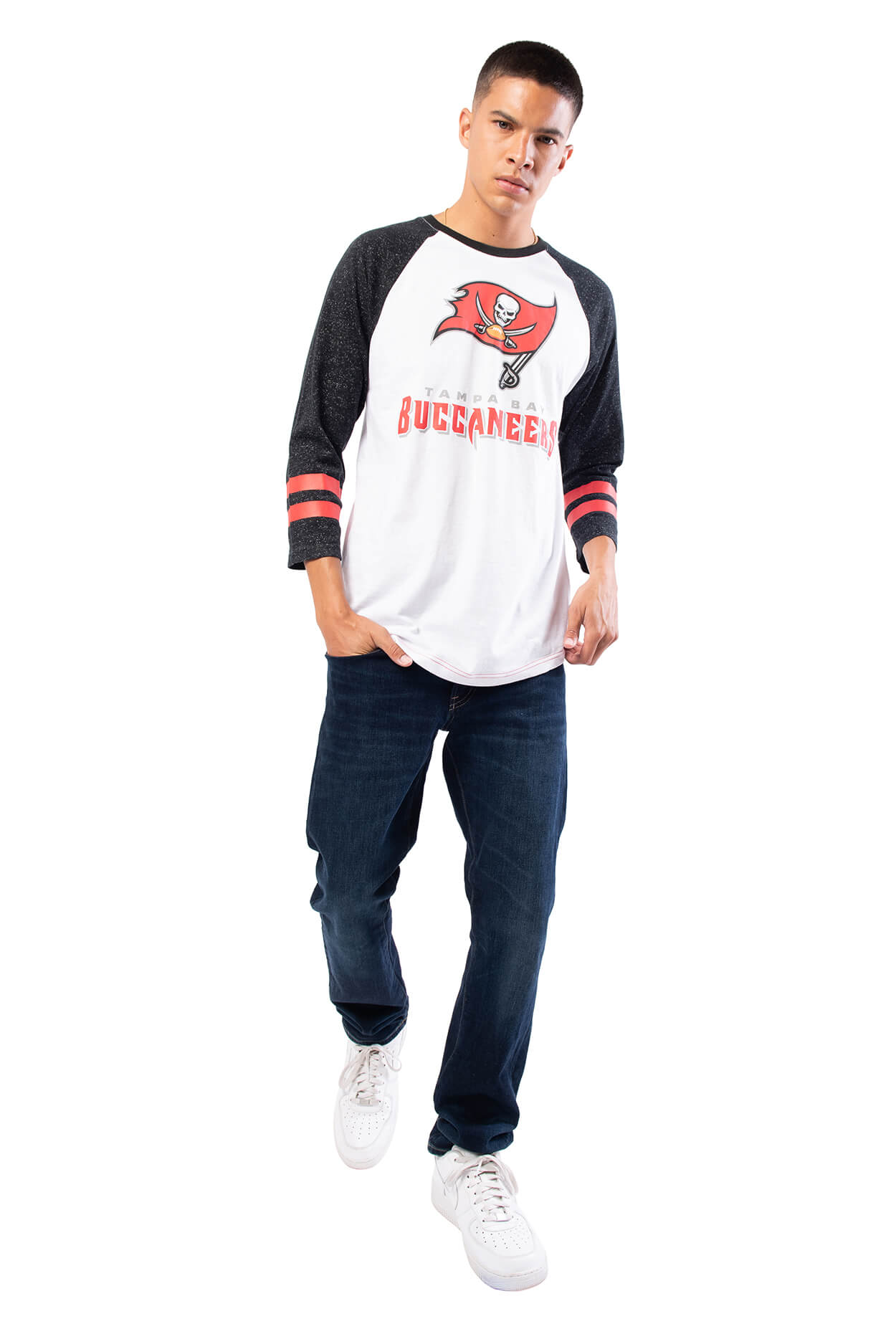 NFL Tampa Bay Buccaneers Men's Baseball Tee|Tampa Bay Buccaneers