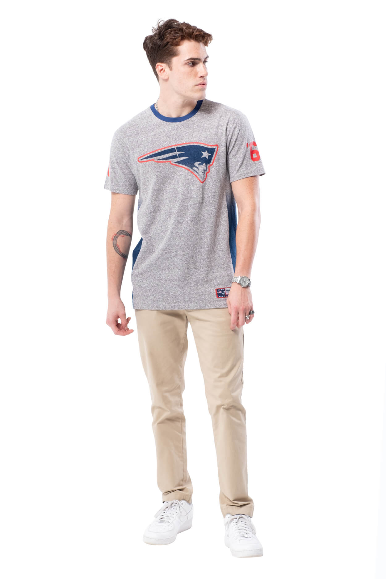 NFL New England Patriots Men's Vintage Ringer Short Sleeve Tee|New England Patriots