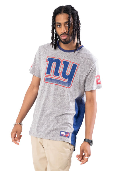 NFL New York Giants Men's Vintage Ringer Short Sleeve Tee|New York Giants