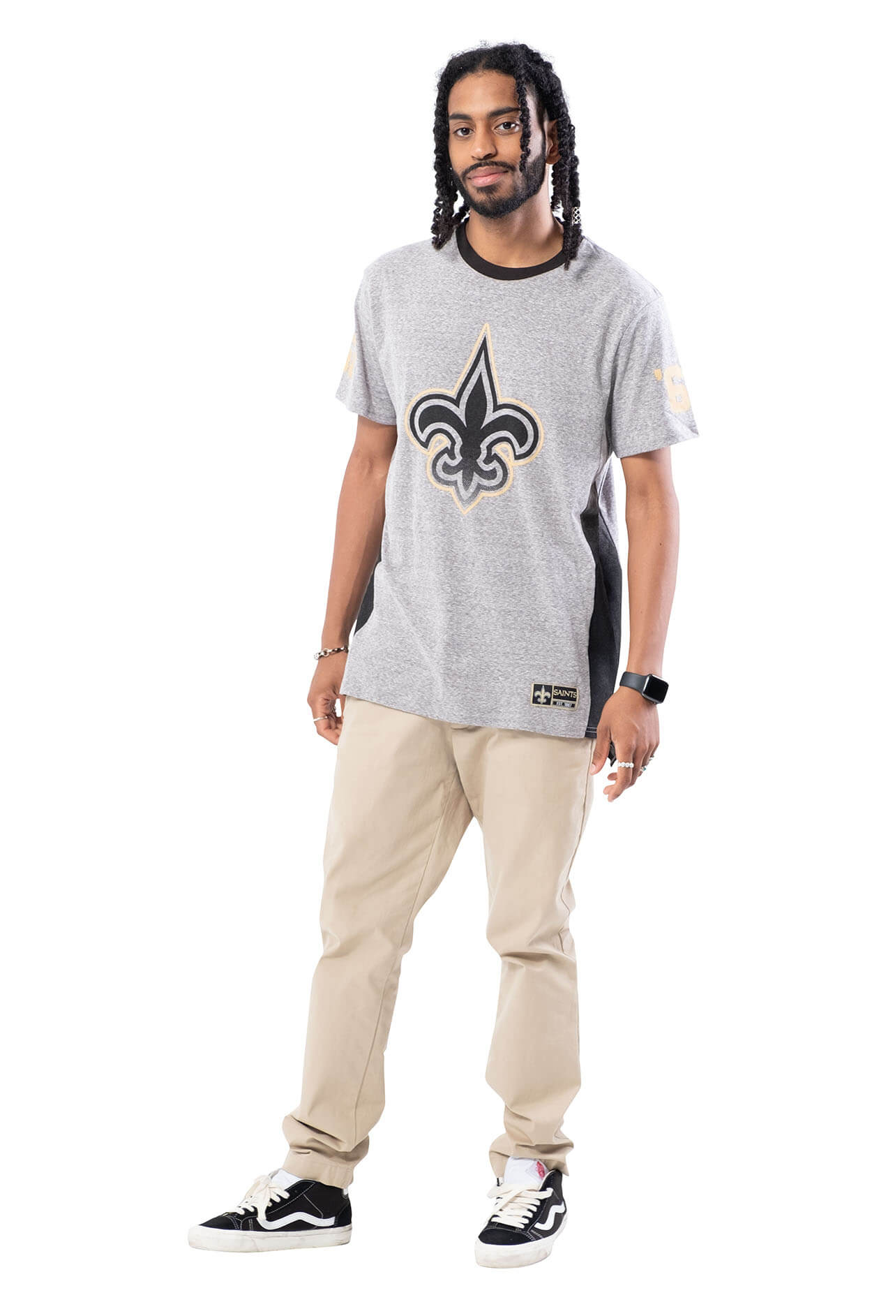 NFL New Orleans Saints Men's Vintage Ringer Short Sleeve Tee|New Orleans Saints