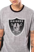Load image into Gallery viewer, NFL Oakland Raiders Men's Vintage Ringer Short Sleeve Tee|Oakland Raiders