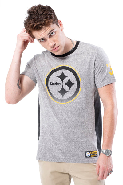 NFL Pittsburgh Steelers Men's Vintage Ringer Short Sleeve Tee|Pittsburgh Steelers