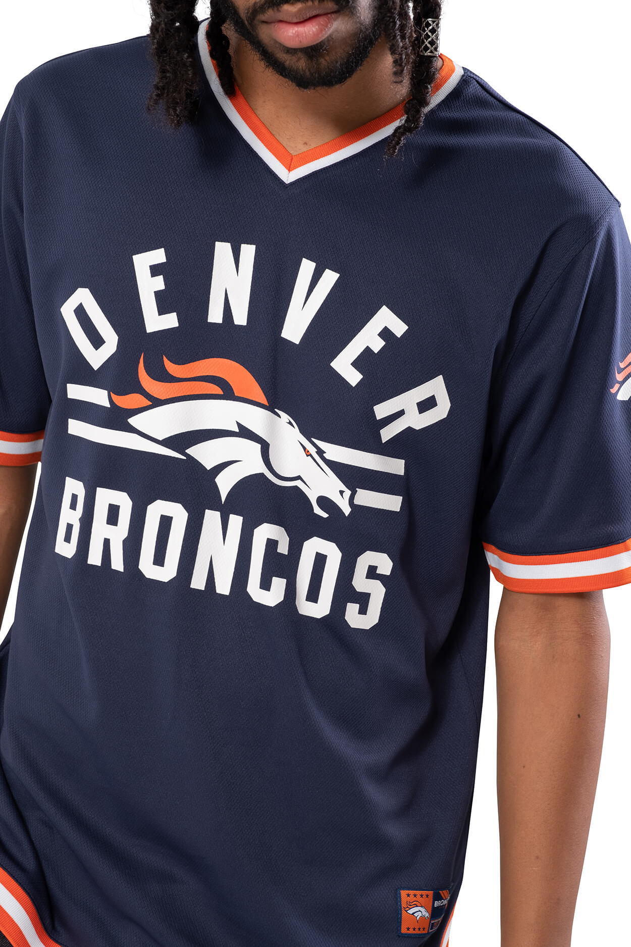 NFL Denver Broncos Men's Jersey Stripe V-Neck|Denver Broncos