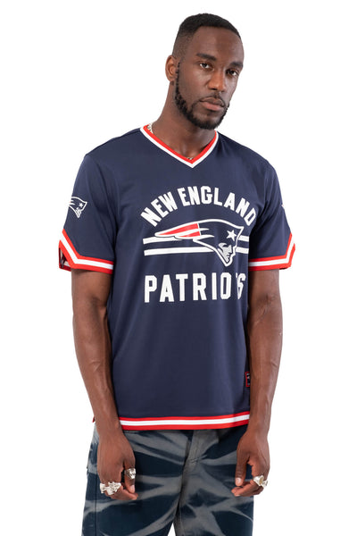 NFL New England Patriots Men's Jersey Stripe V-Neck|New England Patriots